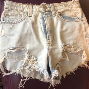 Nasty Gal distressed jean shorts